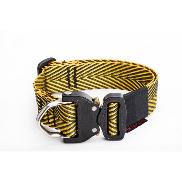 1e559fb09 Cobra Buckle Collar Gold Black Polyester Para Amarid webbing 38mm (Collar  Only) ...